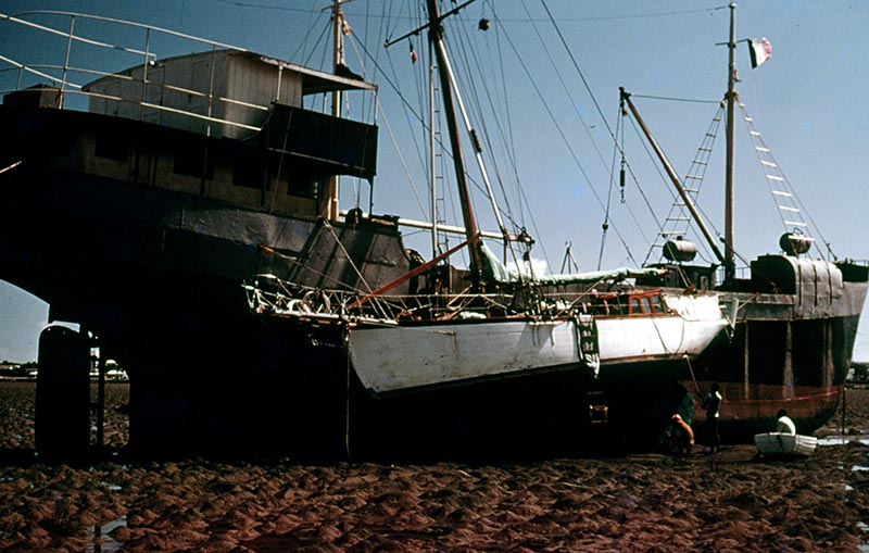Bottom painting in Somalia at low tide