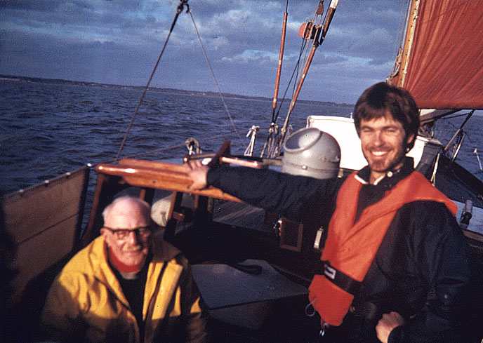 Sail training with my mentor in the Solent, England